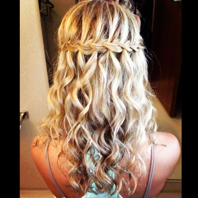Braid Hairstyles For Wedding Party: Waterfall Braid Wedding Hair
