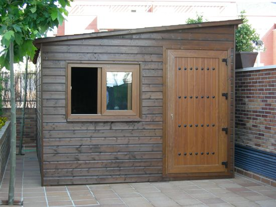Casetas de madera gatos pinterest caseta de madera - Caseta de madera para jardin ...