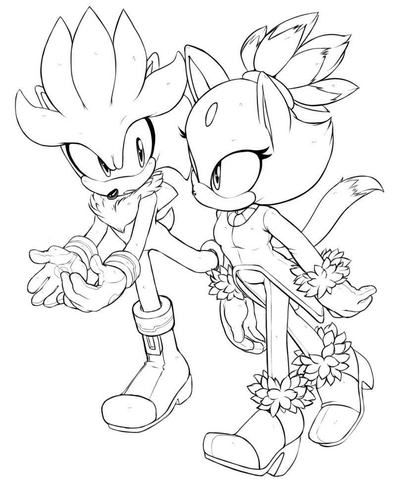Blaze And Silver By Sonicboom53 On Deviantart Silver The Hedgehog Sonic Fan Art Sonic And Shadow