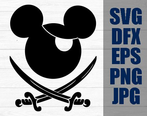 Mickey Pirate Svg Disney Iron On Decal Cutting File By