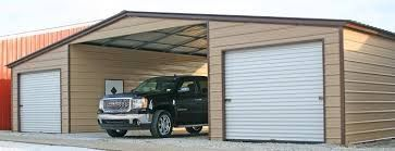 Metal Lean To Garage with Carport | Portable carport ...