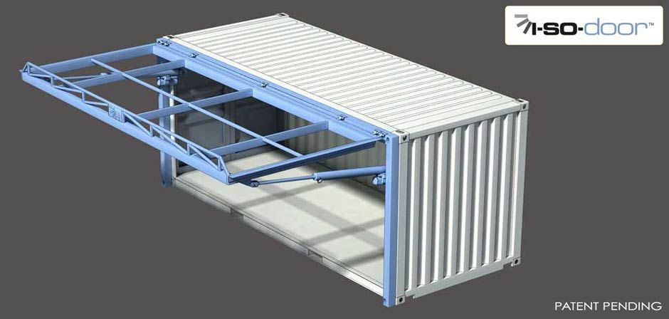 Hydroswing Hydraulic Iso Container Door Open View