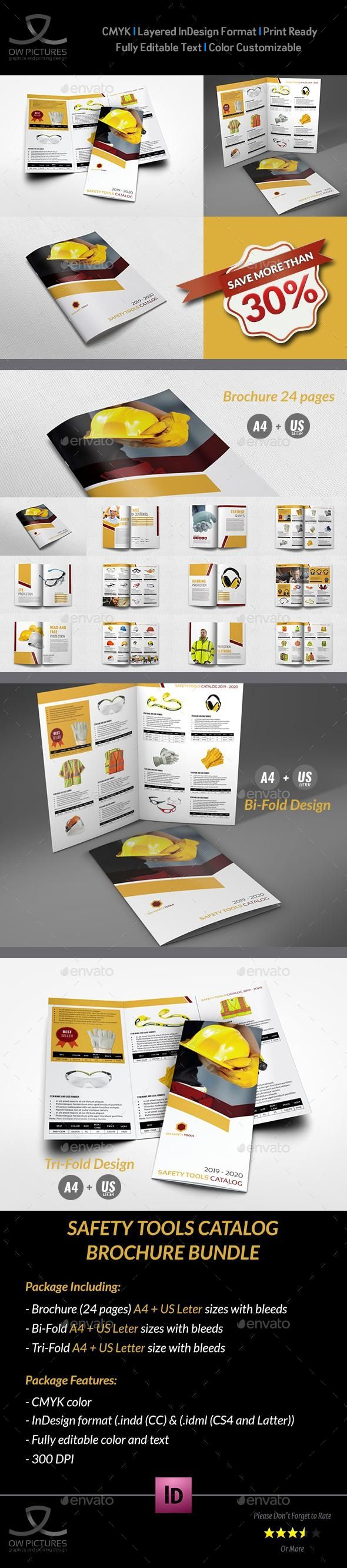 safety tools catalog brochure bundle template for 22 brochure