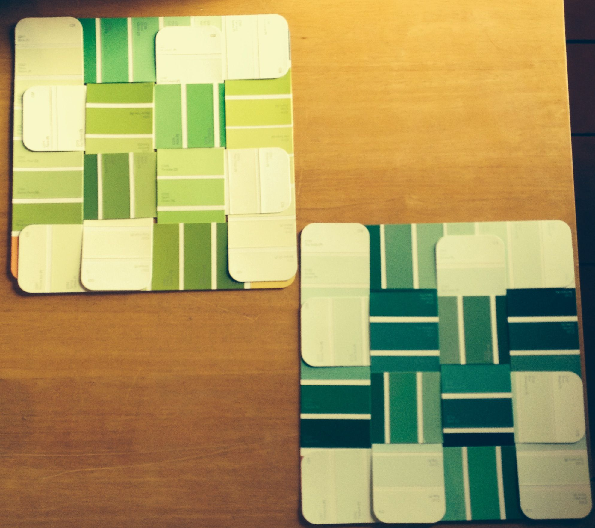 Paint Strip Weaves can be used for anything from placemats to wall ...