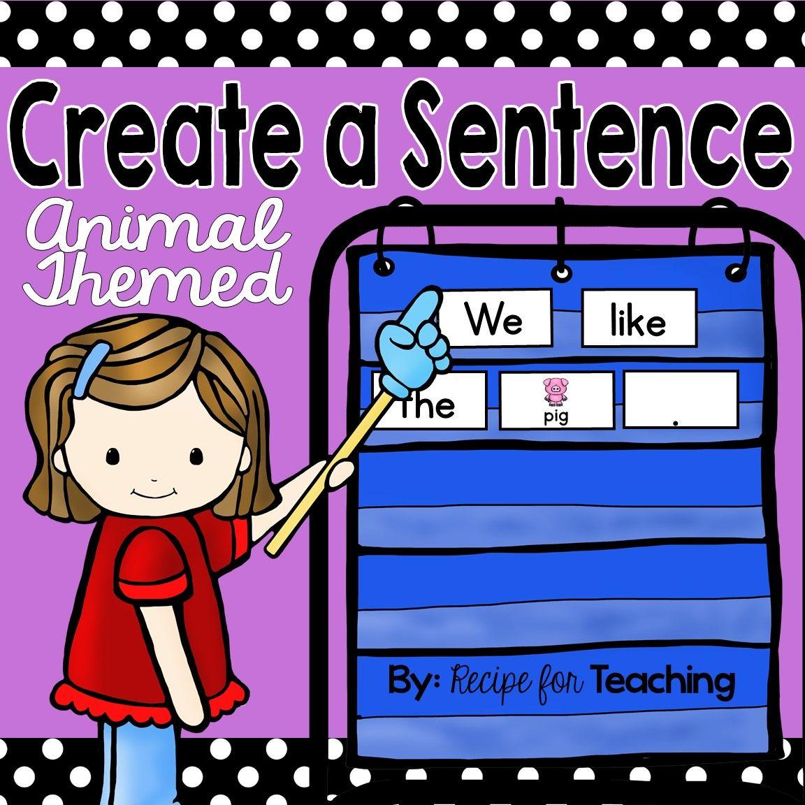 Create A Sentence Animal Themed Free