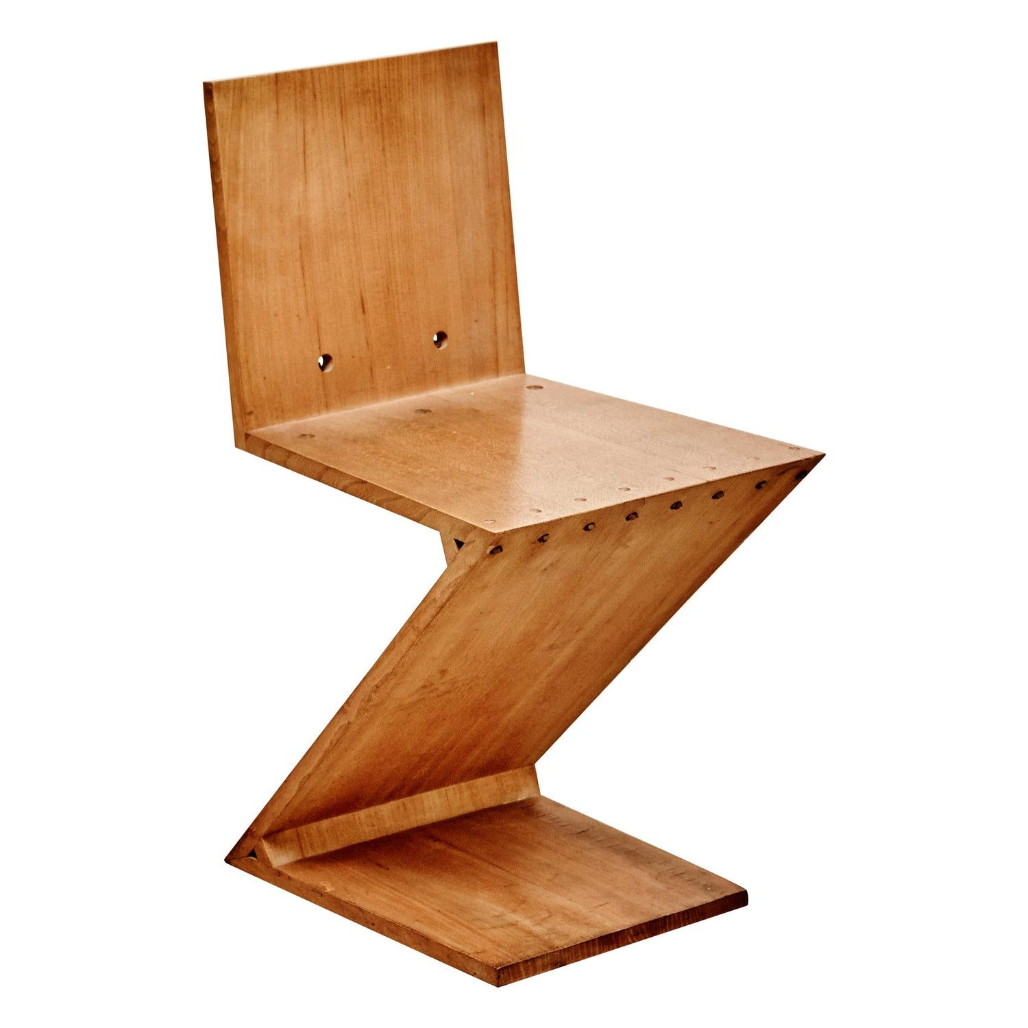 Gerrit Rietveld Mid Century Modern Wood Zig Zag Chair For Metz And Co 1968 In 2020 Dutch Furniture Mid Century Modern Wood Chair