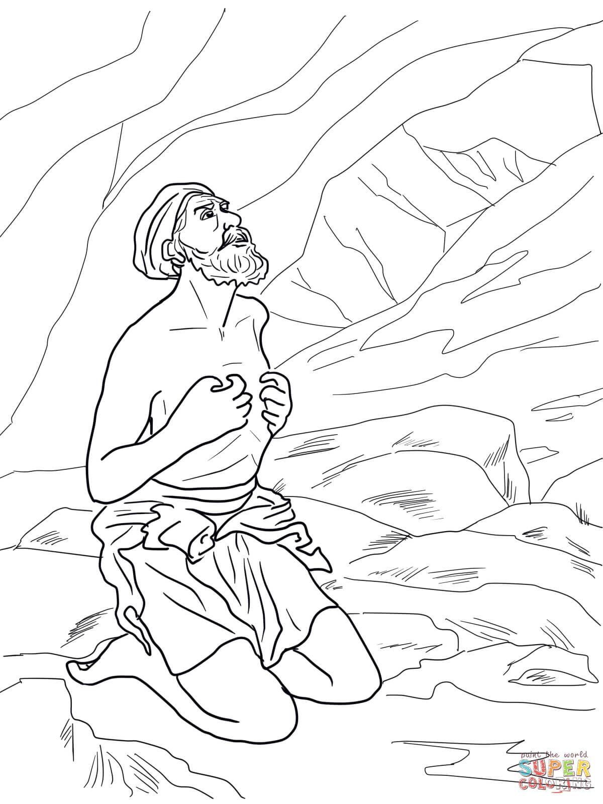 Elijah Hearing God S Whisper In A Still Small Voice