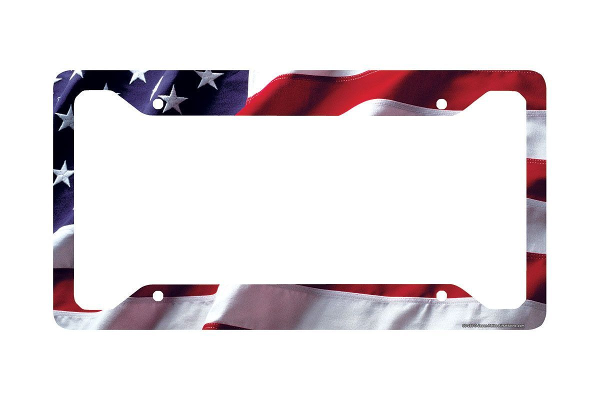 American Flag License Plate Frame, American Flag License Plate ...