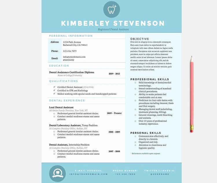 25 Dental assisting Resume Templates in 2020 Dentist