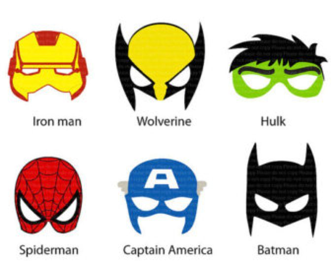 ironman hulk and captain america felt superhero mask pdf sewing