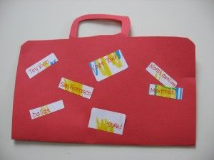 "Suitcase Craft. maybe do it on a light colored paper & give kids ""passport"" stamps to use."