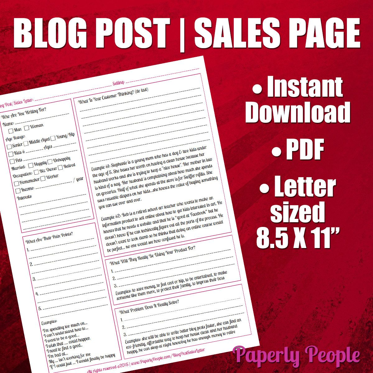 New To Paperlypeople On Etsy Writing A Blog Post Or Sales Letter Worksheet