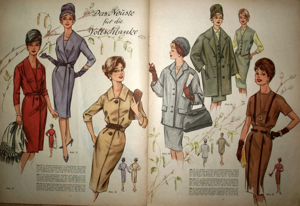 Fashion Plates 1961/62 ------- historische und indianische Dekorationen -www.history-props.de