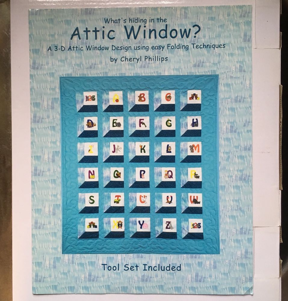Attic Window 3 D Design Easy Folding Techniques Quilting Cheryl Phillips