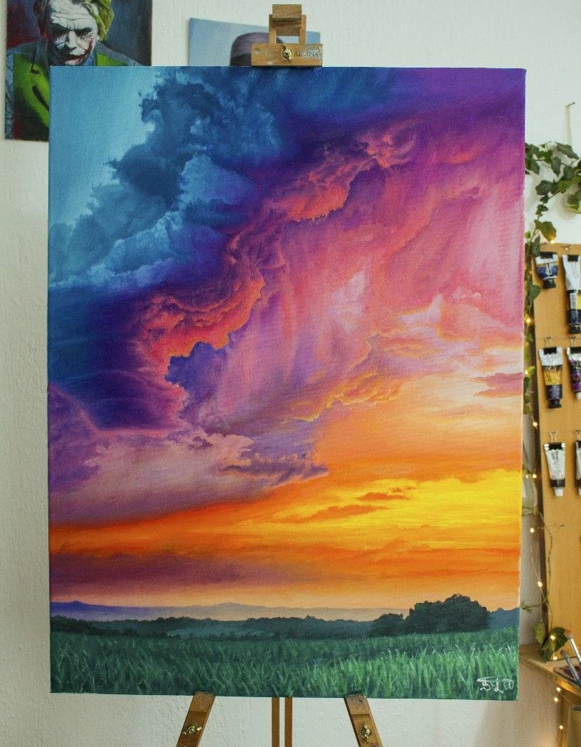 Best Canvas For Oil Painting : canvas, painting, Bebelle, Painting, Nature,, Canvas, Painting,, Projects