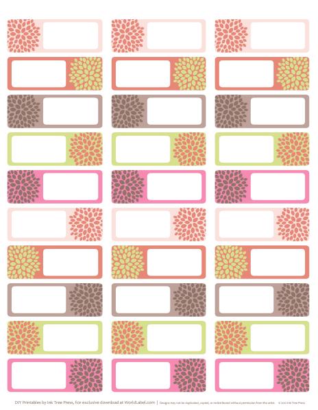 Designer Address Labels: Free Address Labels Designed By Inktreepress For  You To Download.  Printable Return Address Labels Free