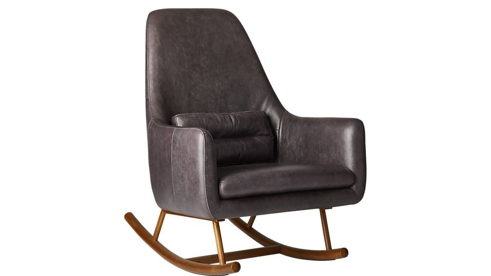 Rocking Chair For Living Room   SAIC Quantam Leather Rocking Chair