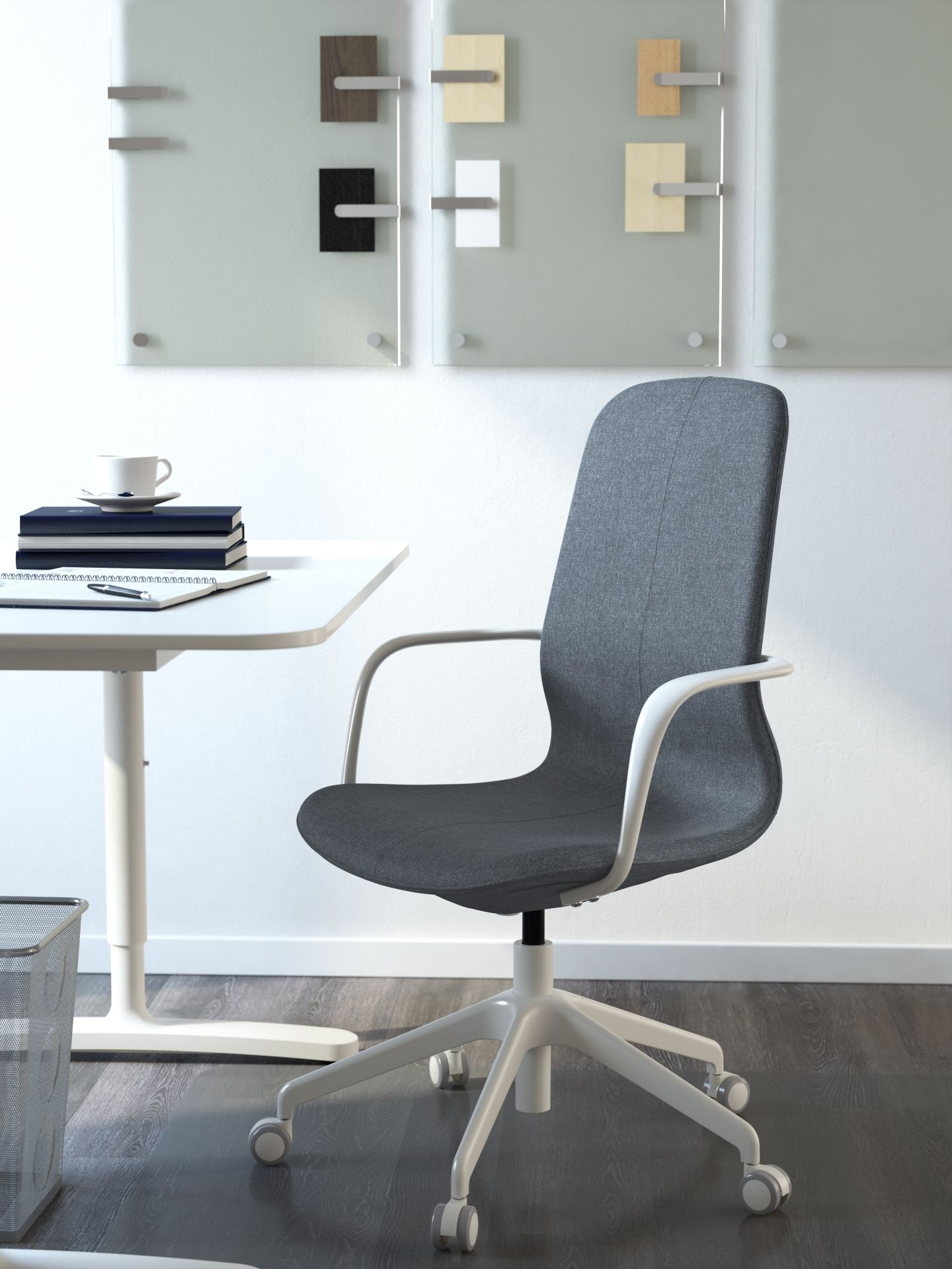 ikea ergonomic office chair. LÅNGFJÄLL Bureaustoel | IKEA IKEAnl IKEAnederland Stoel Werkplek Studeerkamer Werken Studeren Bureau Werk Grijs Wit Ergonomisch Ikea Ergonomic Office Chair