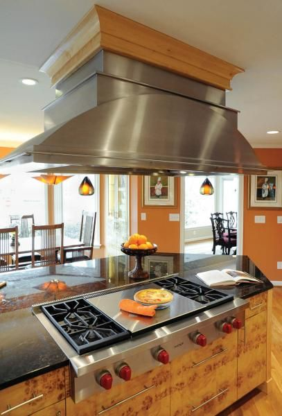Steel Hood Range Kitchen Island Columbus Housetrends Kitchen Redo Kitchen Layout Kitchen Range Hood
