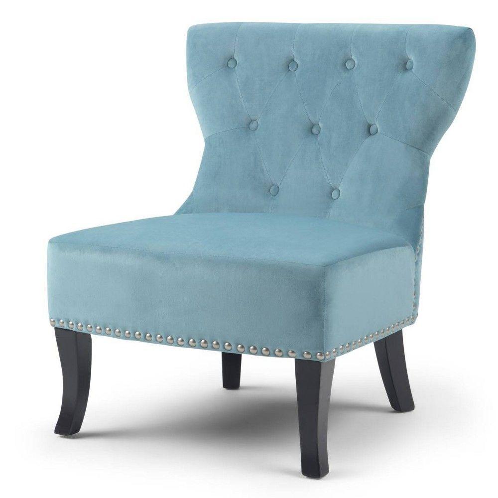 Best Waterloo Accent Chair Mediterranean Blue Wyndenhall In 400 x 300