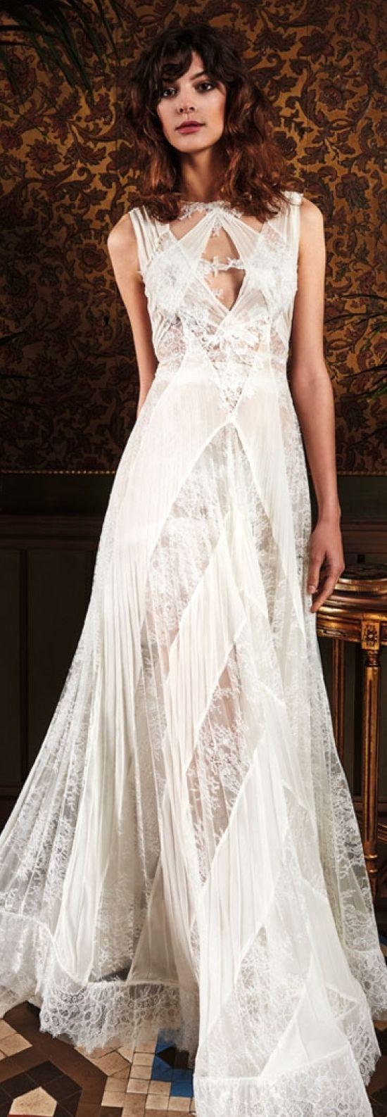 Boho chic wedding dresses bohemian lace wedding dress yolan