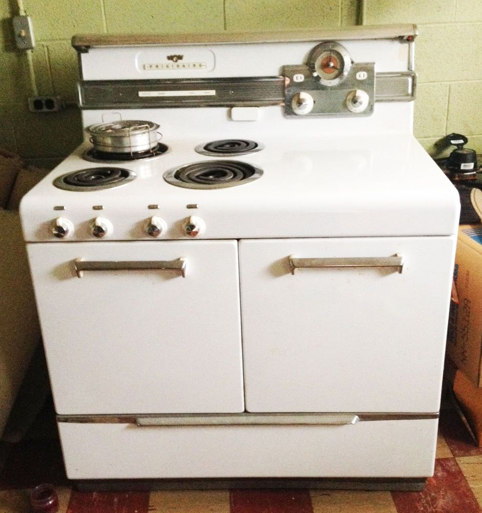 Vintage Electric Stoves ~ Vintage mid century modern frigidaire electric double