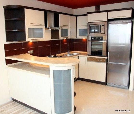 mała kuchnia z salonem w bloku  Szukaj w Google  Kuchnia   -> Funkcjonalna Kuchnia Z Salonem