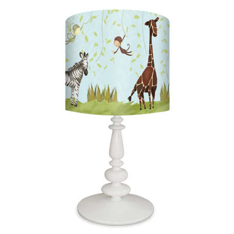 Jungle Fun Nursery Table Lamp Or Lamp Shades By Meghann O Hara For Oopsy Daisy Fine Art For Kids 138 Childrens Table Lamps Kids Table Lamp Lamp