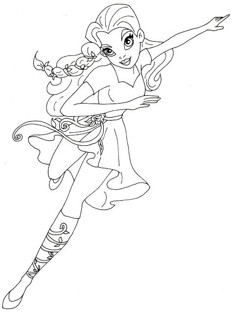 Poison Ivy Super Hero High Coloring Page
