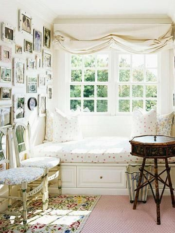 nesting in a cozy window seating. #nooks #windowseats