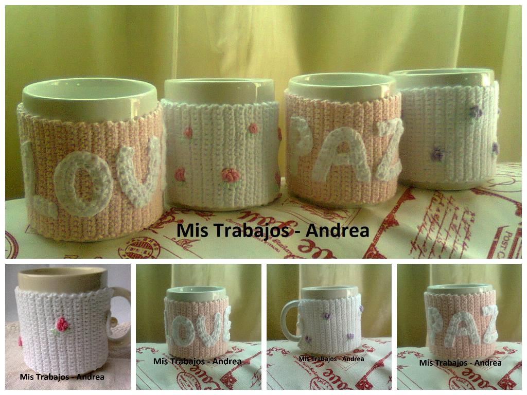 Fundas para tazas en crochet romanticas | para.casa | Pinterest ...