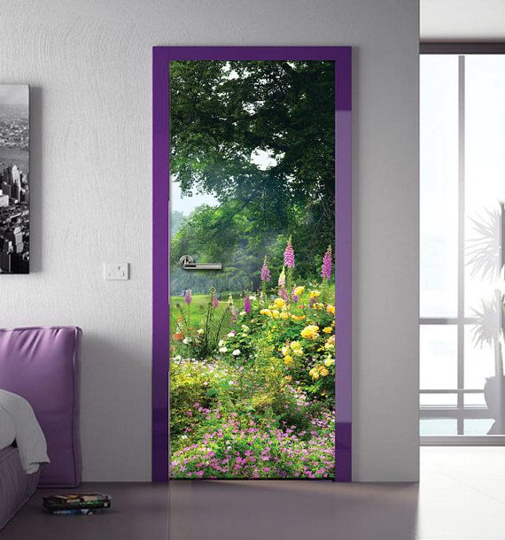 Wall Decal Door Sticker Forest Garden By Fromeuwithlove On