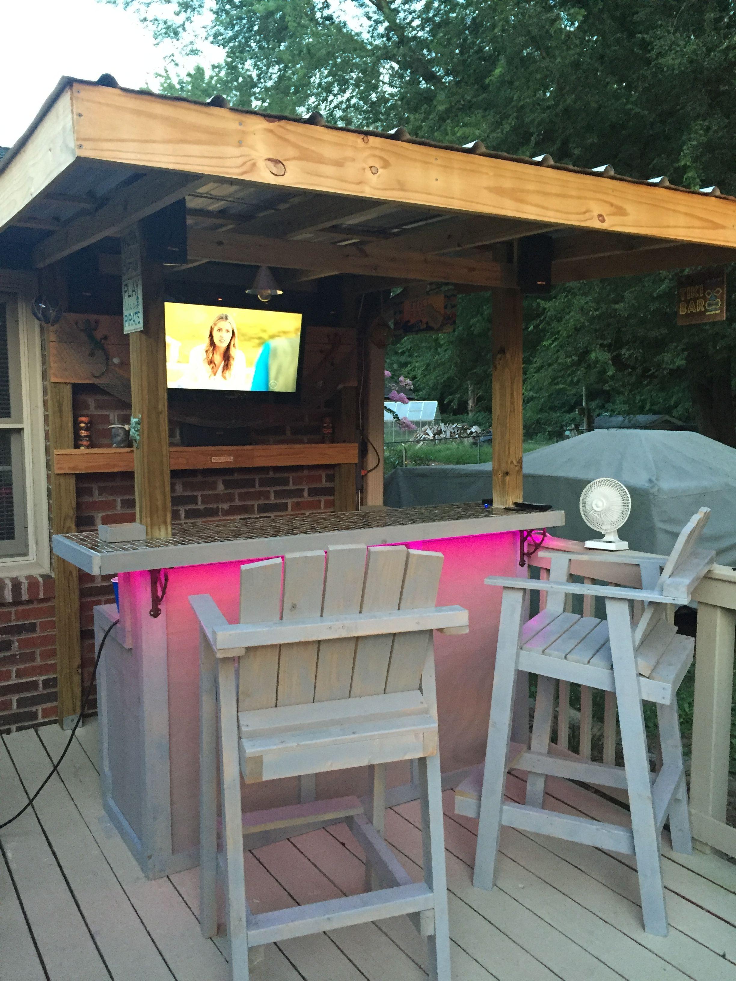 Back yard tiki bar | Outdoor living, Outdoor tables, Decor