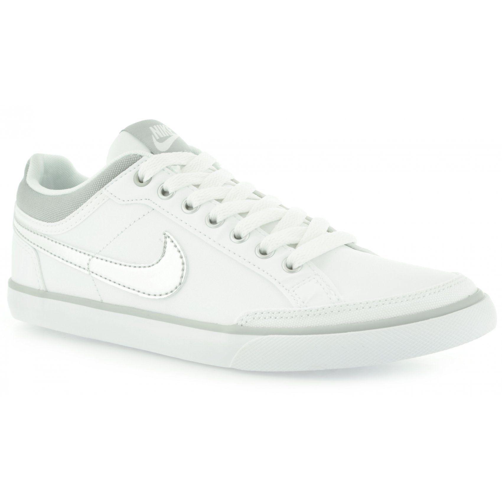 Nike Capri 3 Girls Trainers Shoes White/Fuchsia BX