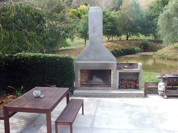 Fireplace Concrete Render