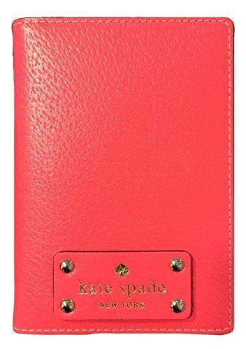 Kate Spade Wellesley Hot Rose Passport Holder Case Wlru1236 Kate