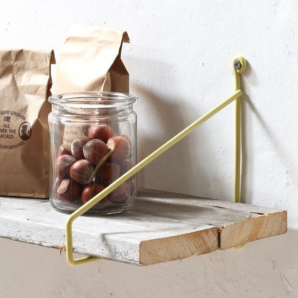Shelf brackets in several colours In stores now Sold in sets of