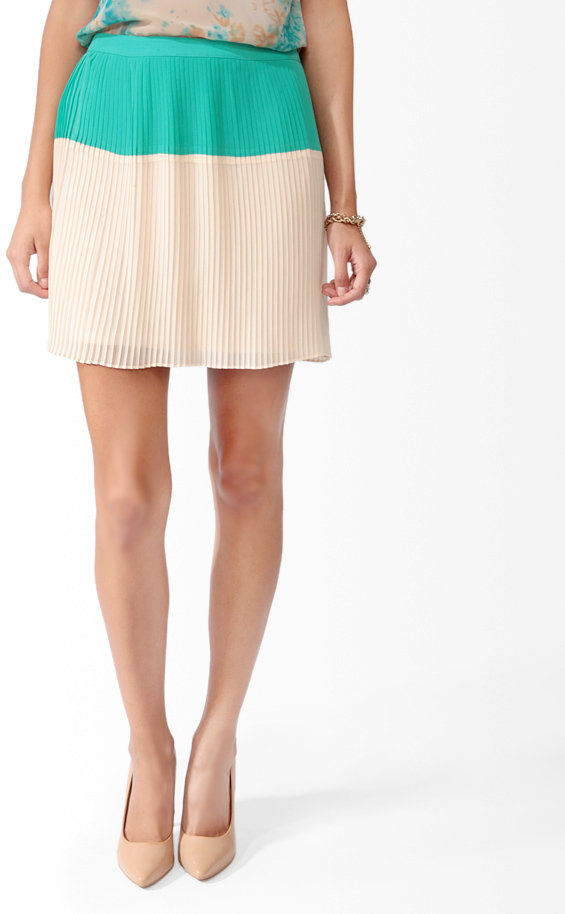 #Forever21                #Skirt                    #Knife #Pleated #Colorblock #Skirt                  Knife Pleated Colorblock Skirt                                                http://www.seapai.com/product.aspx?PID=104940