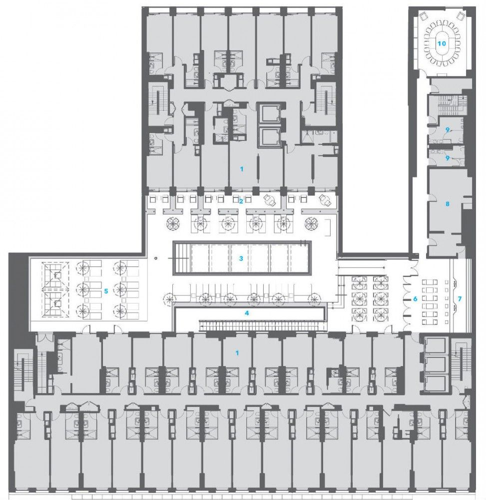 Dream Downtown Hotel Handel Architects Hotel Plan Hotel Room Plan Dream Hotels