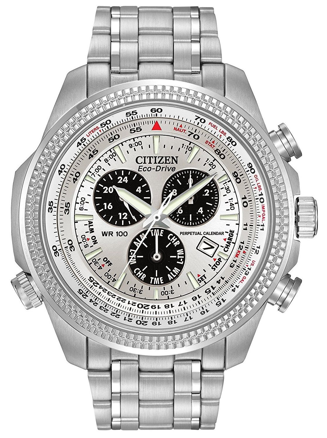 6f96d18fe57 Citizen Men s Eco-Drive Chronograph Watch with Perpetual Calendar and Date