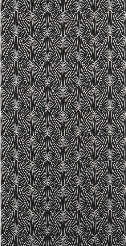 Cabaret Wallpaper Onyx 862 10483 862 James Dunlop Textiles Upholstery Drapery Wallpaper Fabrics Black And White Wallpaper Wallpaper Interior Fabric