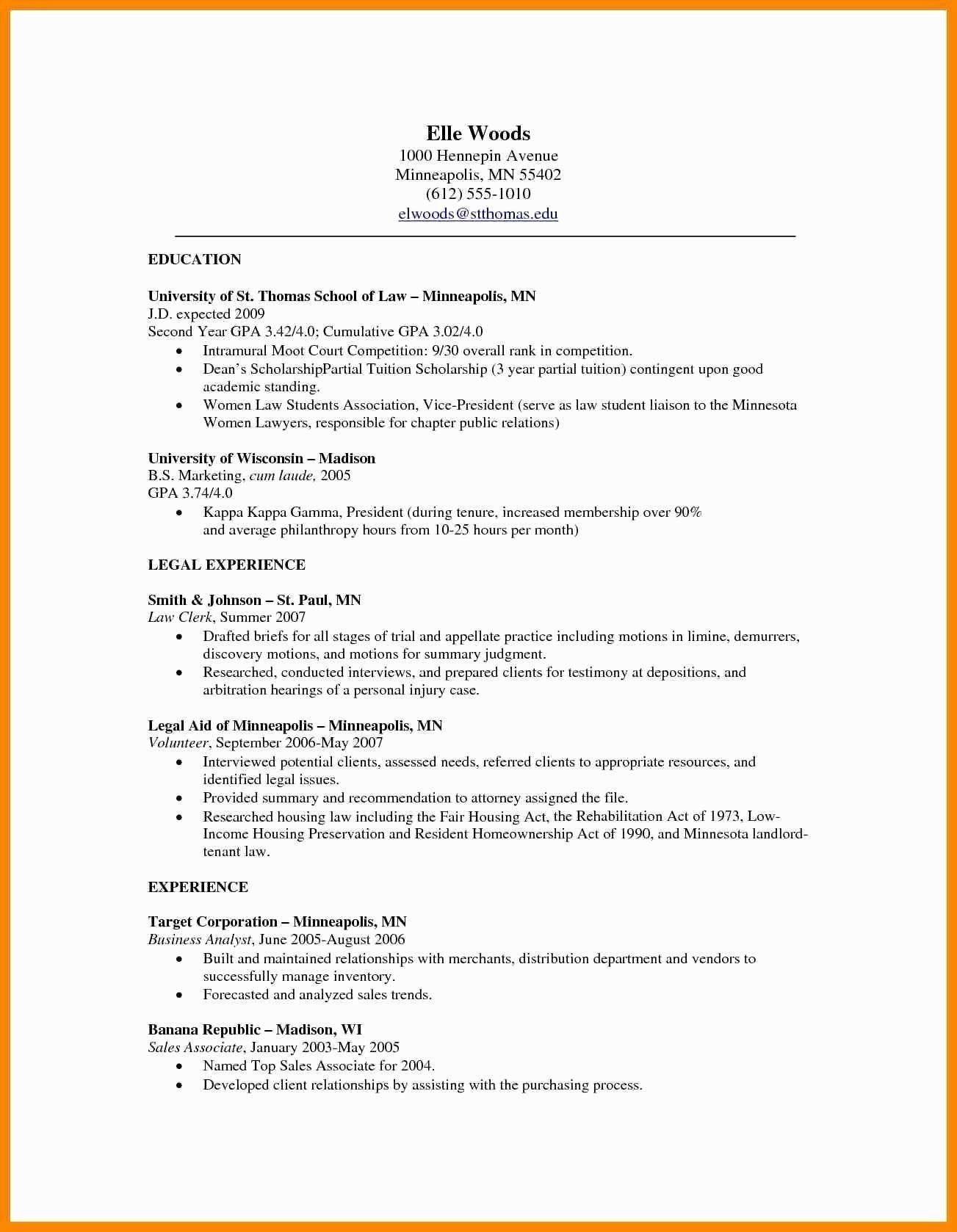 Law School Resume Examples New Resume Template Vice