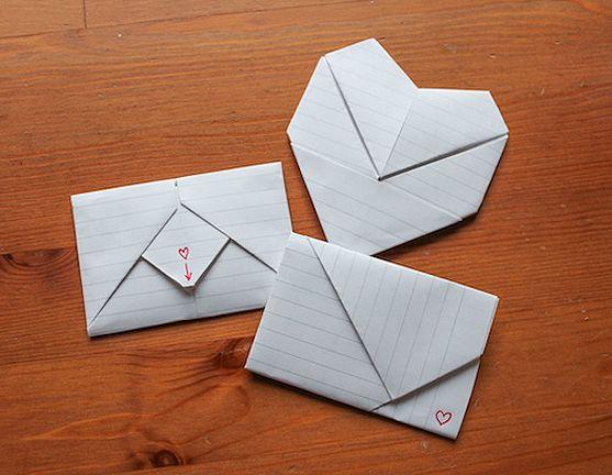 ten clever diy ideas for valentine 39 s day enveloppes pliage et reliure. Black Bedroom Furniture Sets. Home Design Ideas