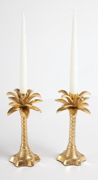 Mw By Matthew Williamson Gold Palm Tree Candle Holder