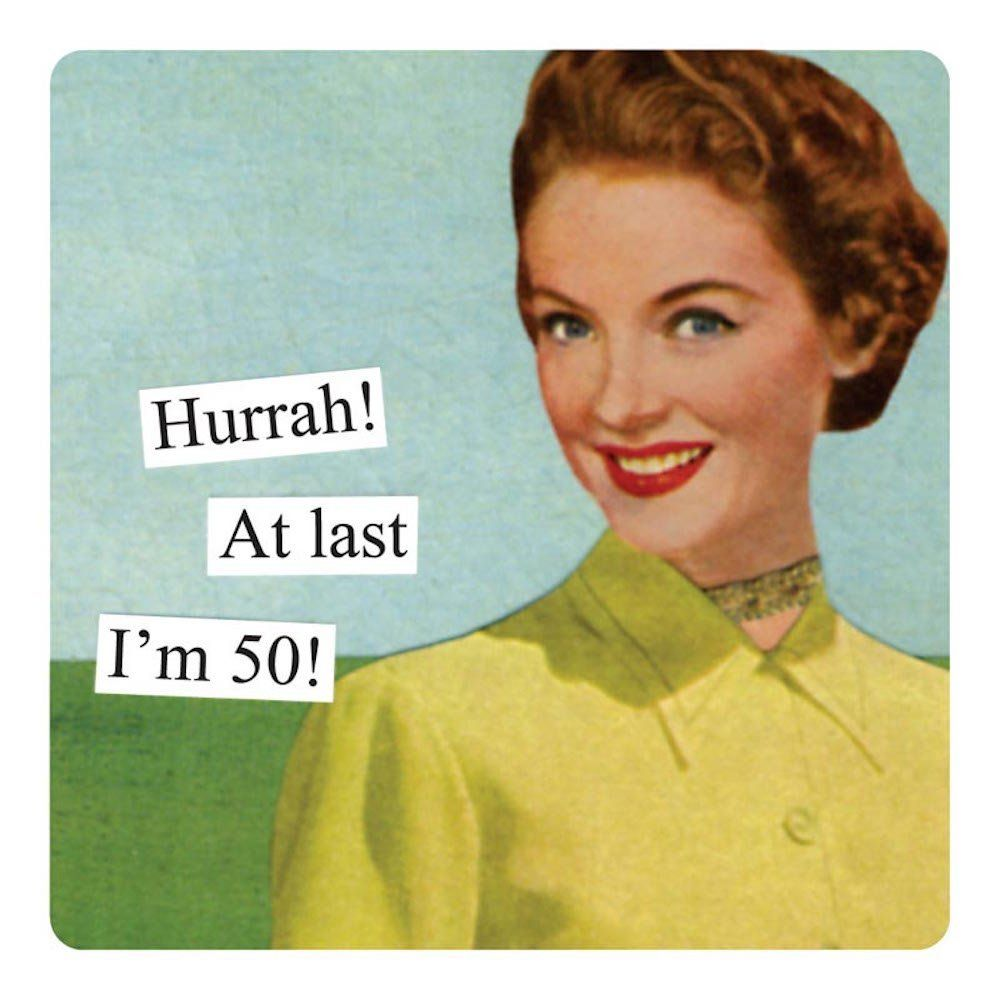 50 And Fabulous Meme: Amazon.com: Anne Taintor 1003 3-3/8-Inch Square Magnet, 50