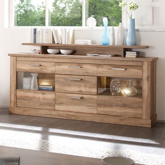 Kitchen Lighting Montreal: Montreal Sideboard In Walnut Satin With 2 Door And LED