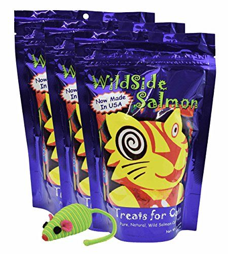 WildSide Wild Alaskan Freeze Dried Salmon USA MADE 3oz Cat Treats 3 Pk  Mouse *** Check this awesome product by going to the link at the image.(It is Amazon affiliate link) #culturegram