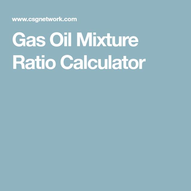 Gas Oil Mixture Ratio Calculator Smarty Oil Gas Calculator