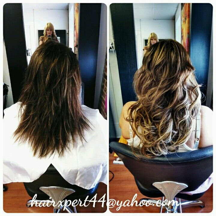 Hair Extensions Put In And Made To Look Like Ombre