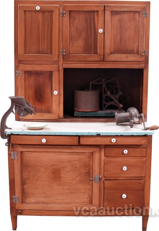 How much is this Hoosier cabinet worth? - Antique Hoosier Cabinet Appraised Online. What's This Worth